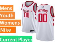 Mens Youth Nba Houston Rockets Current Player White Nike Swingman Jersey