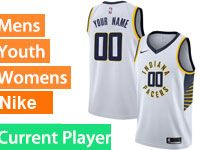 Mens Nba Indiana Pacers Current Player White Swingman Nike Jersey