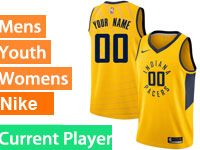 Mens Nba Indiana Pacers Current Player Gold Swingman Nike Jersey