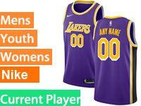 Mens Women Youth 2018-19 Nba Los Angeles Lakers Current Player Nike Swingman Purple Jersey