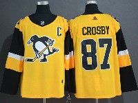 Mens Nhl Pittsburgh Penguins #87 Sidney Crosby Adidas Yellow Jersey