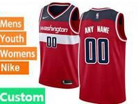 Mens Womens Youth Nba Washington Wizards Custom Made Red Icon Edition Swingman Nike Jersey