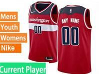 Mens Womens Youth Nba Washington Wizards Current Player Red Icon Edition Swingman Nike Jersey