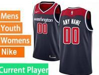Mens Womens Youth 2020 Nba Washington Wizards Current Player Blue Statement Edition Swingman Nike Jersey