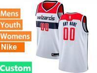 Mens Womens Youth Nba Washington Wizards Custom Made White Association Edition Swingman Nike Jersey