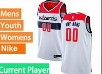 Mens Womens Youth 2020 Nba Washington Wizards Current Player White Association Edition Swingman Nike Jersey