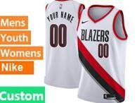 Mens Womens Youth Nba Portland Trail Blazers Custom Made White Association Edition Nike Swingman Jersey