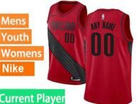 Mens Nba Portland Trail Blazers Current Player Red Nike Jersey