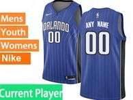 Mens Womens Youth Nba Orlando Magic Current Player Blue Stripe Icon Edition Nike Swingman Jersey