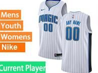 Mens Womens Youth Nba Orlando Magic Current Player White Stripe Nike Swingman Jersey