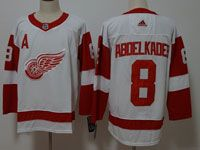 Mens Nhl Detroit Red Wings #8 Justin Abdelkader Adidas White Jersey
