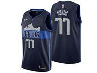 Mens Nba Dallas Mavericks #77 Luka Doncic Dark Blue City Edition Jersey