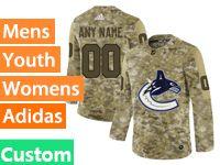 Mens Women Youth Adidas Vancouver Canucks Custom Made Camo Jersey