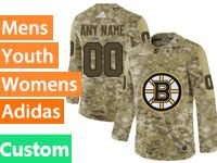 Mens Women Youth Adidas Nhl Boston Bruins Custom Made Camo Jersey