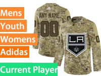 Mens Womens Youth Adidas Los Angeles Kings Current Player Camo Jersey