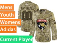 Mens Women Youth Adidas Florida Panthers Current Player Camo Jersey