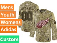Mens Women Youth Adidas Nhl Detroit Red Wings Custom Made Camo Jersey