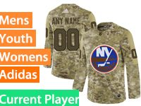 Mens Women Youth Adidas New York Islanders Current Player Camo Jersey