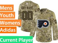 Mens Women Youth Adidas Philadelphia Flyers Current Player Camo Jersey