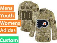 Mens Women Youth Adidas Philadelphia Flyers Custom Made Camo Jersey