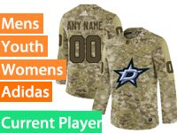 Mens Women Youth Adidas Dallas Stars Current Player Camo Jersey