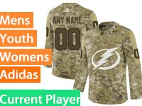 Mens Women Youth Adidas Tampa Bay Lightning Current Player Camo Jersey