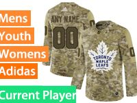 Mens Women Youth Adidas Toronto Maple Leafs Current Player Camo Jersey