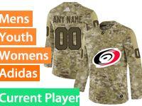 Mens Women Youth Adidas Nhl Carolina Hurricanes Current Player Camo Jersey