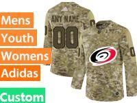 Mens Women Youth Adidas Nhl Carolina Hurricanes Custom Made Camo Jersey