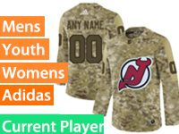 Mens Women Youth Adidas New Jersey Devils Current Player Camo Jersey