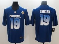 Mens Minnesota Vikings #19 Adam Thielen Blue 2019 Pro Bowl Nfc Nike Royal Game Jersey