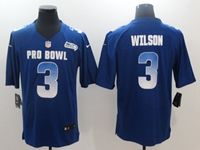 Mens Seattle Seahawks #3 Russell Wilson Blue 2019 Pro Bowl Nfc Nike Royal Game Jersey