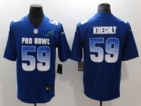 Mens Carolina Panthers #59 Luke Kuechly Blue 2019 Pro Bowl Nike Royal Vapor Untouchable Limited Jersey