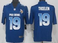 Mens Minnesota Vikings #19 Adam Thielen Blue Nike Royal Vapor Untouchable Limited Jersey