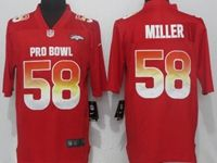 Mens Denver Broncos #58 Von Miller Red 2019 Pro Bowl Nike Royal Vapor Untouchable Limited Jersey
