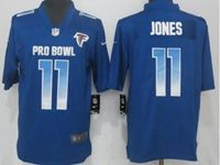 Mens Atlanta Falcons #11 Julio Jones Blue 2019 Pro Bowl Nike Royal Vapor Untouchable Limited Jersey