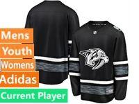 Mens Women Youth Adidas Nashville Predators Black Current Player 2019 All Star Jersey