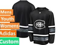 Mens Women Youth Adidas Nhl Montreal Canadiens Black Custom Made 2019 All Star Jersey