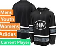 Mens Women Youth Adidas Montreal Canadiens Black Current Player 2019 All Star Jersey