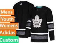 Mens Women Youth Adidas Toronto Maple Leafs Black Custom Made 2019 All Star Jersey