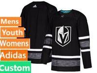 Mens Women Youth Adidas Vegas Golden Knights Black Custom Made 2019 All Star Jersey