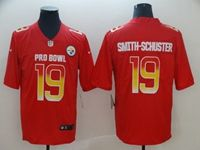 Mens Pittsburgh Steelers #19 Juju Smith-schuster Red 2019 Pro Bowl Nike Royal Limited Jersey