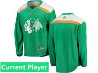 Mens Nhl Chicago Blackhawks Green 2019 St. Patrick's Day Current Player Jersey