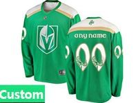 Mens Nhl Vegas Golden Knights Green 2019 St. Patrick's Day Custom Made Jersey