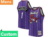 Mens Nba Toronto Raptors Custom Made Mitchell&ness Hardwood Classics Purple Jersey