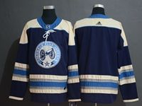 Mens Nhl Columbus Blue Jackets Blank Alternate Premier Navy Blue Adidas Jersey