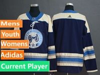 Mens Women Youth Nhl Columbus Blue Jackets Current Player Alternate Premier Navy Blue Adidas Jersey