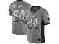 Mens Nfl Las Vegas Raiders #84 Antonio Brown Gray Drift Fashion Vapor Untouchable Limited Jersey