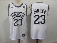 Mens Nba Movie Aj Psg Paris Saint Germain #23 Michael Jordan Basketball White Jersey
