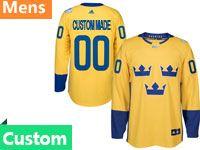 Wch World Cup Of Hockey Custom Made Yellow Wch Nhl Jersey